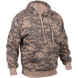 ACU Digital Camo Pullover Hooded Sweatshirt