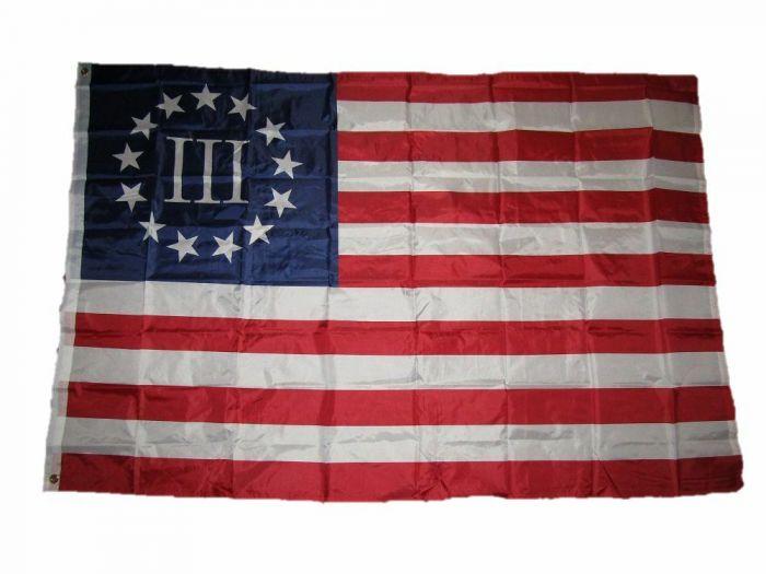 3/% American Flag License Plate