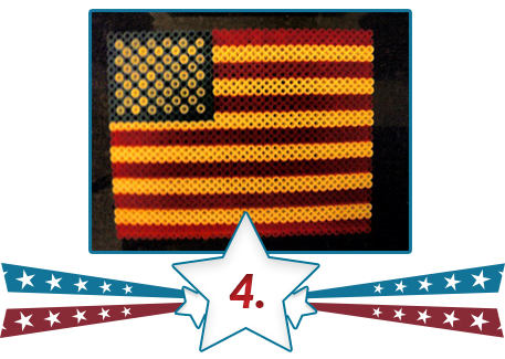patriotic plaque from beads