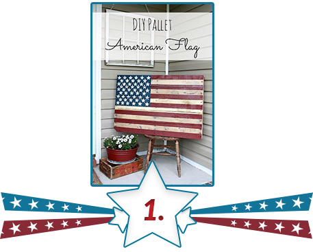 US flag DIY art