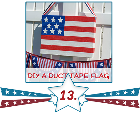 patriotic sign from duct tape