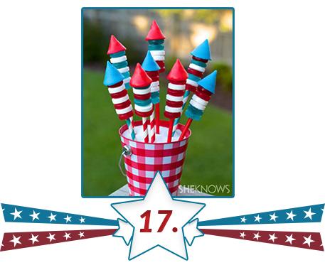 american flag in edible fireworks