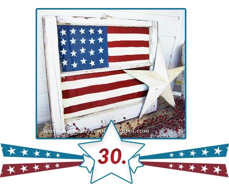 flag set on wood