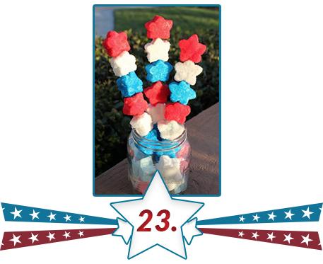 flag set star candies