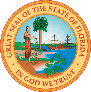 modern florida flag seal