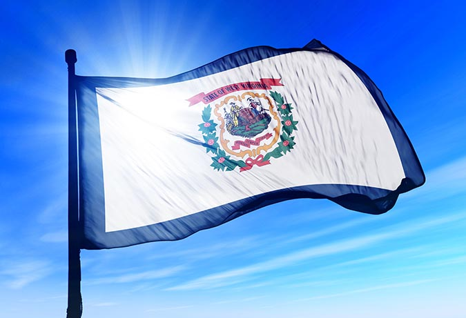 west-virginia-usa-flag-waving-on-the-wind