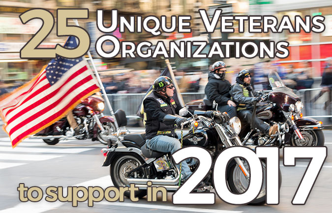 25 Unique Veteran Organizations to support in 2017