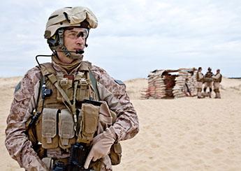 Armed forces in desert