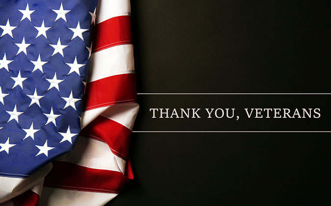 Thank you veterans US flag