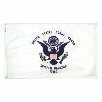 American coast guard flag flat