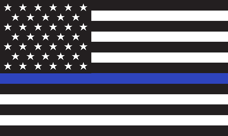 Law enforcement support flag graphic