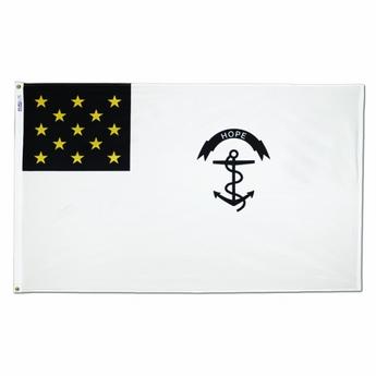"Rhode Island regiment flag ""hope"""