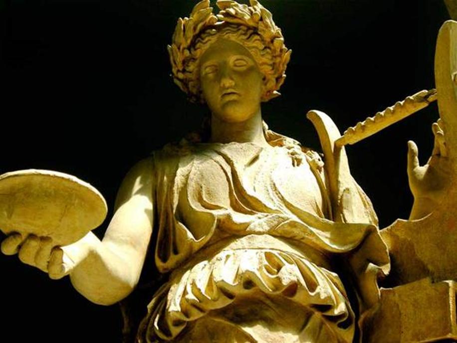 Statue of Saint Patrick with harp