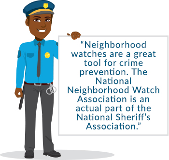 Neighborhood watch quote graphic