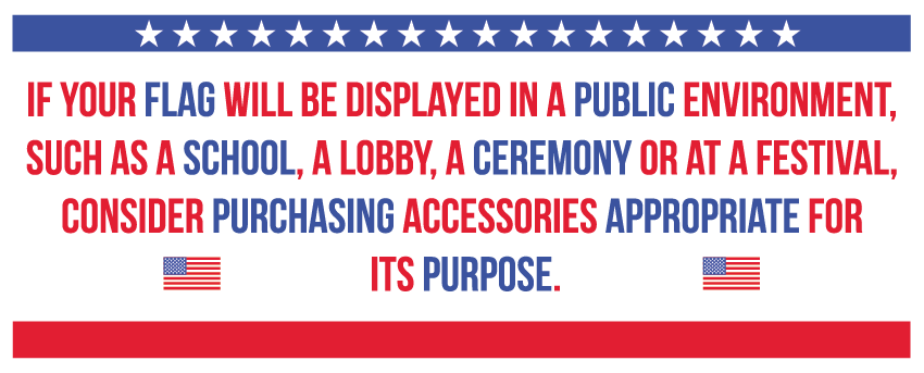 Displaying american flag quote