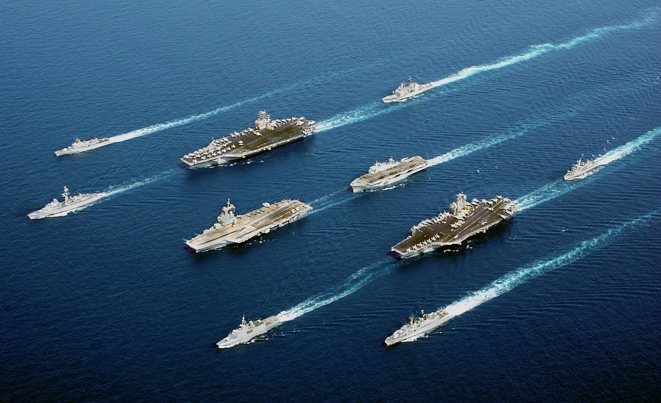 Ships Navy formation parade