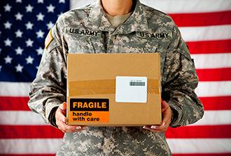 Package for military vet