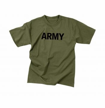 olive green ARMY t shirt