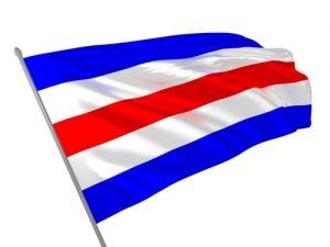 3D illustration of flag meaning C letter