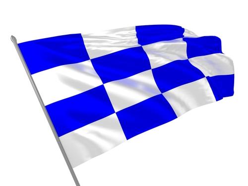 3D illustration of international maritime signal flag