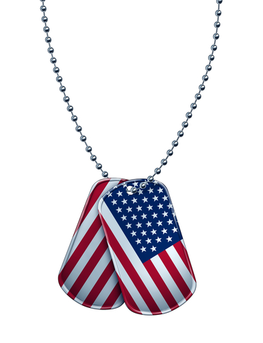 american military dog tags necklace
