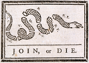 benjamin franklins join or die