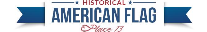 historical american flag divider 13