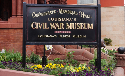 louisianas civil war museum lawn sign