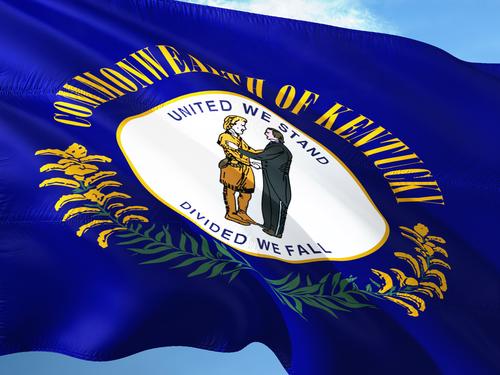 Kentucky flag on the mast