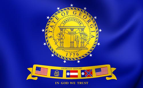 3D Flag of Georgia