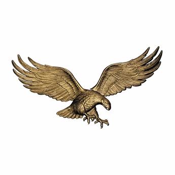 Antique Brass Patriotic Eagle