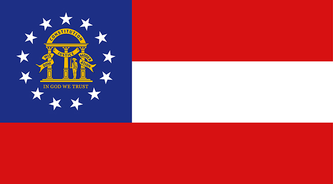 Georgia state national flag