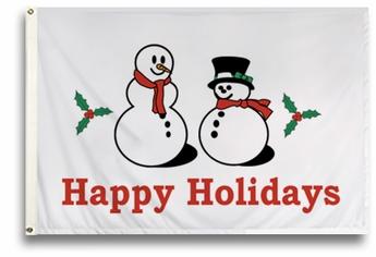 Happy Holidays Flag