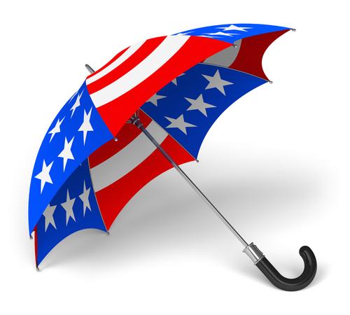 American Flag Umbrella