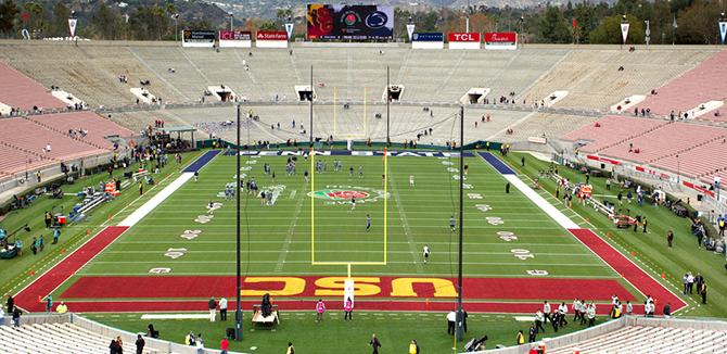 The Rose Bowl field