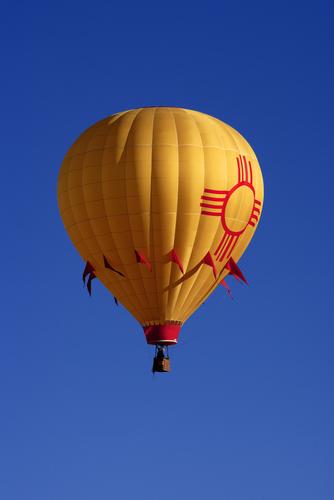 hot air balloon new mexico state flag