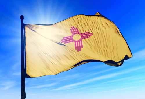 new mexico flag waving wind