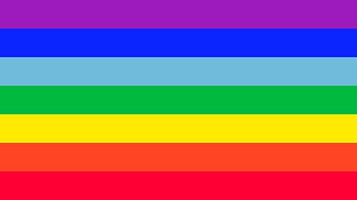 rainbow flag stripes
