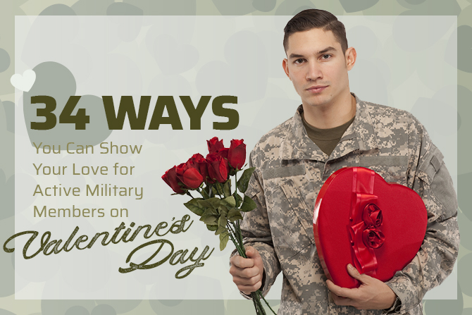 ways show love military valentines day