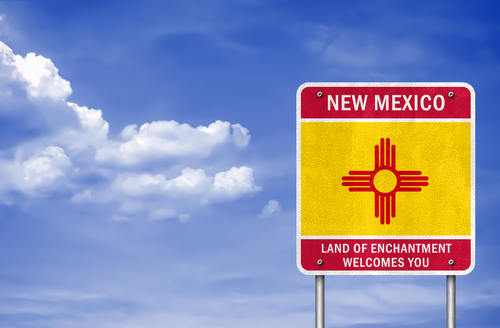 welcome to new mexico state sign