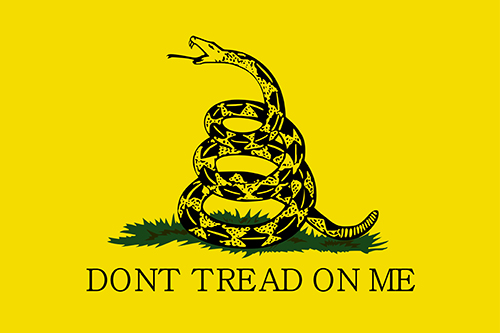 yellow gadsden flag dont tread on me