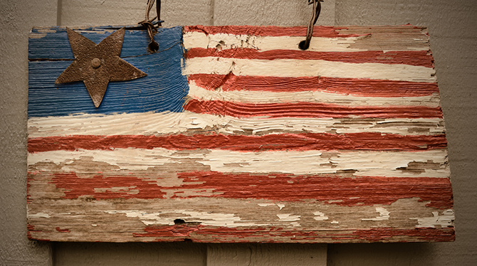 American flag wooden art project