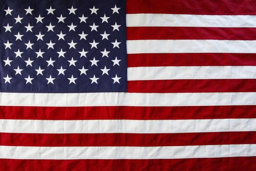 american flag laid flat