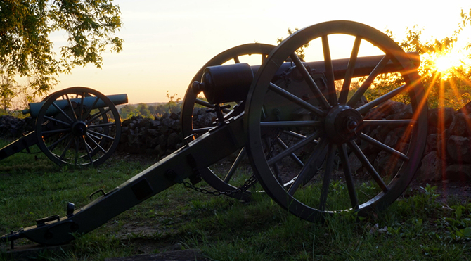 cannon at the gettysburg