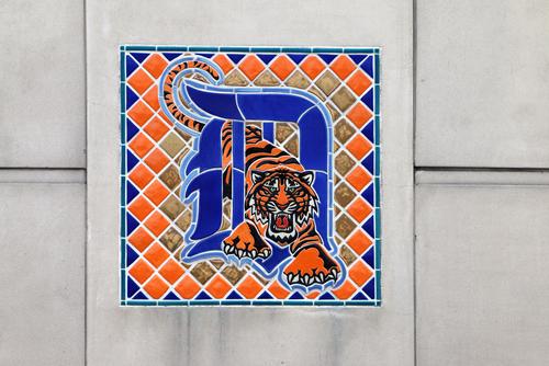 detroit tigers logo mosaic