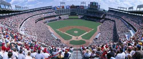 Baseball stadium, Texas Rangers v. Baltimore Orioles, Dallas, Texas