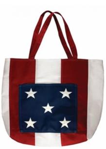 american flag hand bag