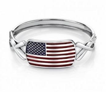american flag metal cuff