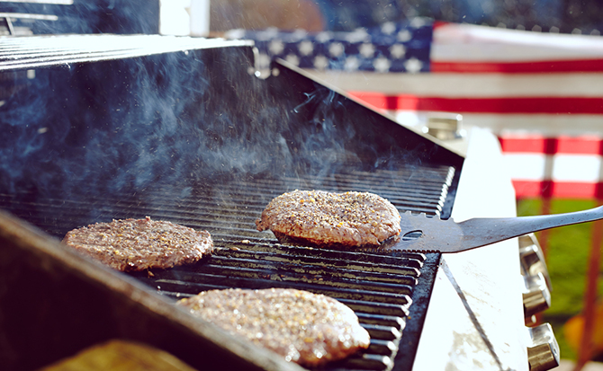 barbecue american flag
