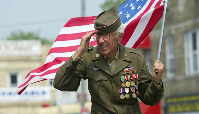 veteran salutes ny march